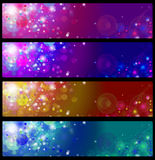 Vector colorful banners Royalty Free Stock Photos