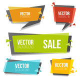 Vector colorful banners set. Geometric banner isolated on white background. Stock Photo