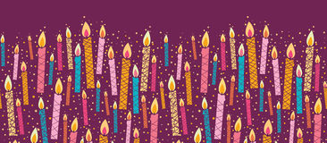 Vector colorful birthday candles horizontal Stock Images