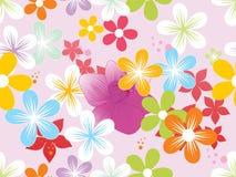 Vector colorful blossoms wallpaper Stock Photos