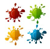 Vector colorful blot set Royalty Free Stock Photography