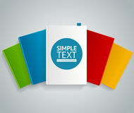 Vector  colorful book concept Royalty Free Stock Photo