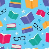 Vector Colorful Books Seamless Pattern Stock Photography