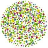 Vector colorful botanical garden fresh leaves background design element.  vector illustration