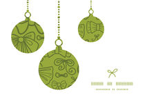 Vector colorful bows Christmas ornaments Royalty Free Stock Photography