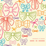 Vector colorful bows frame corner pattern Stock Images