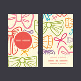 Vector colorful bows vertical round frame pattern Stock Images
