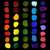 Vector Colorful brush stain Stock Images