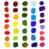 Vector Colorful brush stain Royalty Free Stock Image