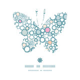 Vector colorful bubbles butterfly silhouette Royalty Free Stock Image