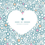Vector colorful bubbles heart silhouette pattern Stock Image