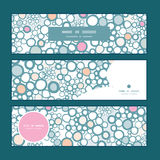 Vector colorful bubbles horizontal banners set Stock Images