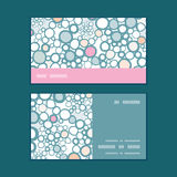 Vector colorful bubbles horizontal stripe frame Royalty Free Stock Image
