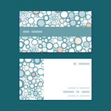 Vector colorful bubbles horizontal stripe frame Stock Images