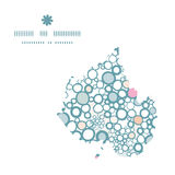 Vector colorful bubbles leaf silhouette pattern Royalty Free Stock Photography