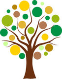 Vector colorful bubbles tree Stock Images