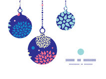 Vector colorful bursts Christmas ornaments Stock Images