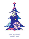 Vector colorful bursts Christmas tree silhouette Royalty Free Stock Photos