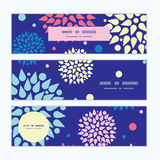 Vector colorful bursts horizontal banners set Stock Photography