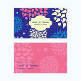 Vector colorful bursts horizontal frame pattern. Business cards set graphic design Royalty Free Stock Photography