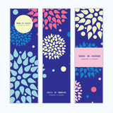 Vector colorful bursts vertical banners set. Pattern background graphic design Stock Photos