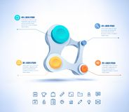 Vector colorful businesscircle connect. Royalty Free Stock Images