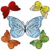 Vector colorful butterflies set Stock Photos