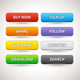 Vector Colorful Buttons Stock Photography