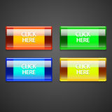 Vector colorful buttons. Royalty Free Stock Images