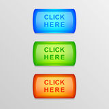 Vector colorful buttons. Royalty Free Stock Photo