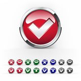 Vector colorful buttons for web design Royalty Free Stock Photos