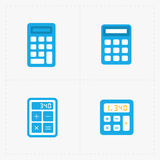 Vector colorful calculator icons set Stock Photos