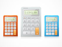 Vector colorful calculator set Royalty Free Stock Photo
