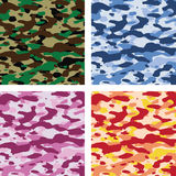 Vector colorful camouflage patterns Royalty Free Stock Photos