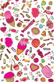 Vector colorful candy seamless pattern stock illustration