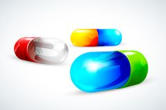 Vector Colorful Capsule Royalty Free Stock Photos