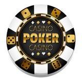 Vector colorful Casino chip. Gambling. Poker chip. Black Jack. 21. Las Vegas. Game royalty free illustration