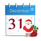 Vector colorful christmas advent calendar Royalty Free Stock Photo