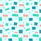 Christmas present boxes. Holiday seamless pattern. Stock Photo