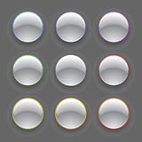 Vector Colorful Chrome Button Set Stock Photography