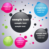 Bright & Colorful Chat Bubbles Stock Images