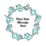 Vector colorful circular floral wreaths. Stock Photos