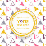 Vector colorful circular Logo with copyspace for Text. Isolated on Seamless Pattern  Royalty Free Stock Photo
