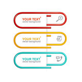 Vector colorful clips. Option banner Royalty Free Stock Photography