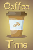 Vector colorful coffee cup icon Stock Image