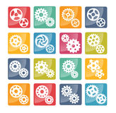 Vector colorful cog icons Royalty Free Stock Images
