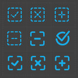 Vector colorful confirm icons set Stock Images