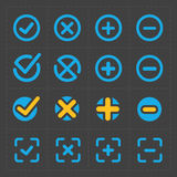 Vector colorful confirm icons set Stock Photography