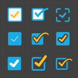 Vector colorful confirm icons set. This is a vector illustration of Vector colorful confirm icons set Stock Image