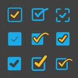 Vector colorful confirm icons set. This is a vector illustration of Vector colorful confirm icons set Royalty Free Stock Images